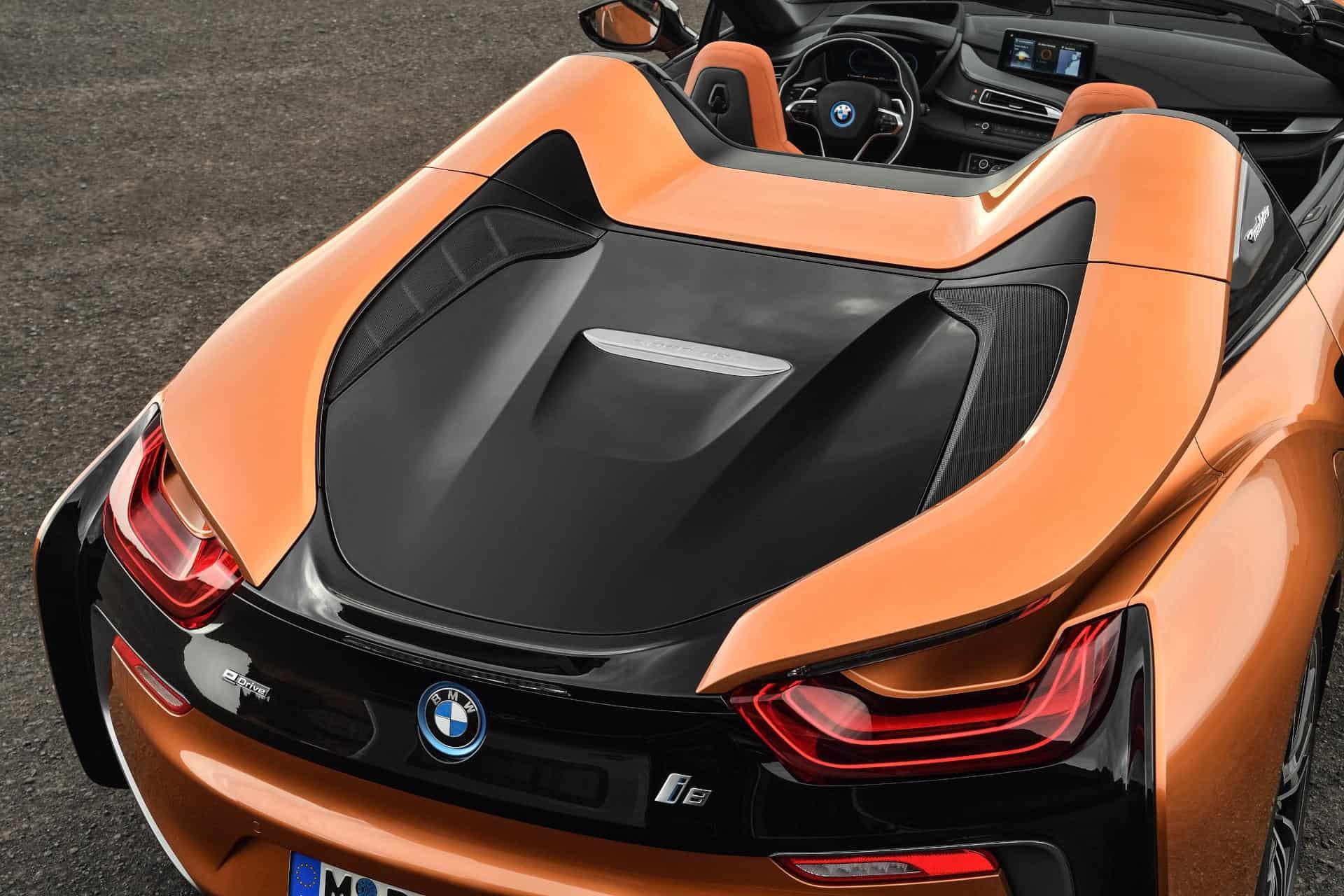 BMWi8 Roadster rear view
