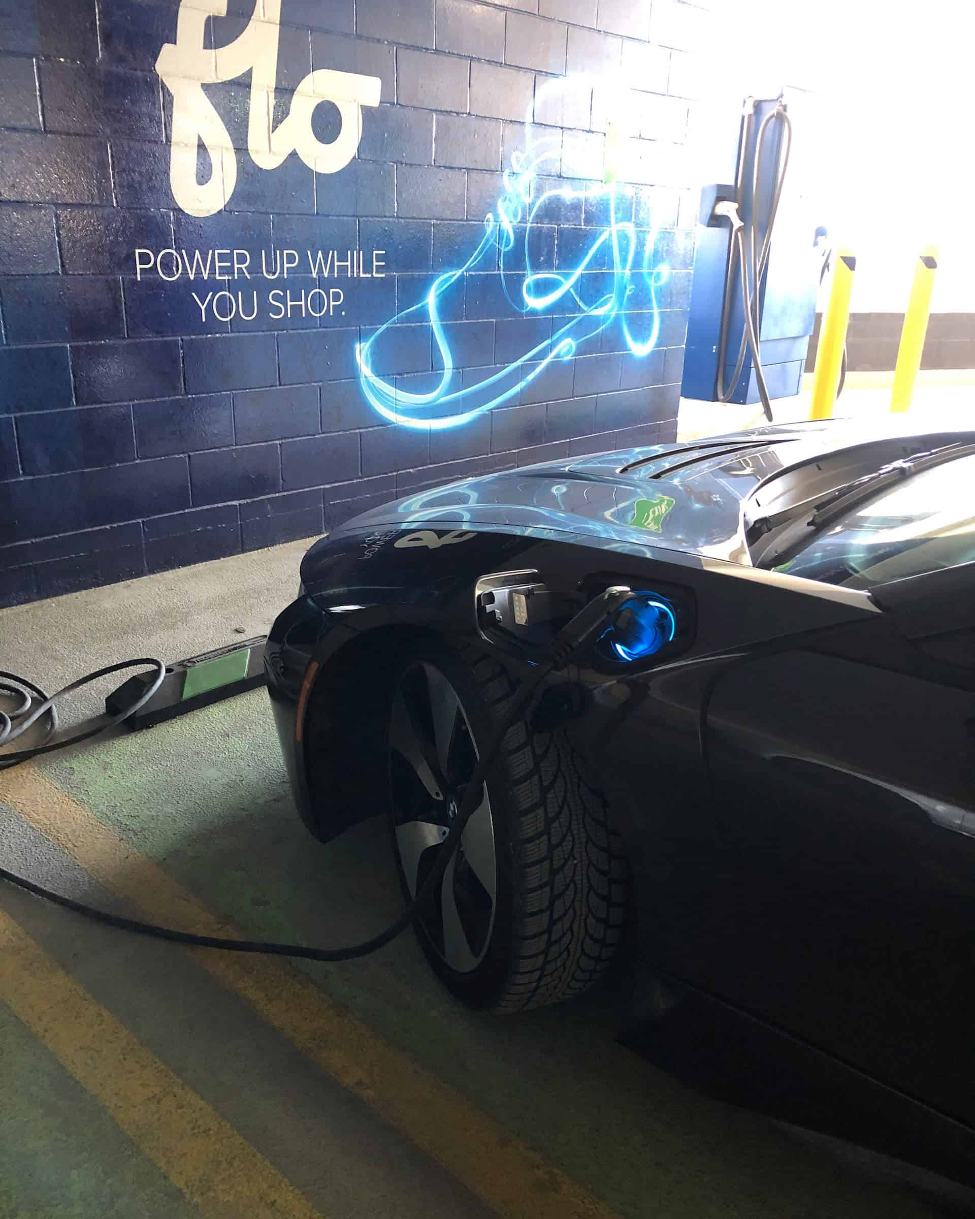 BMWi8 Angele at charging station