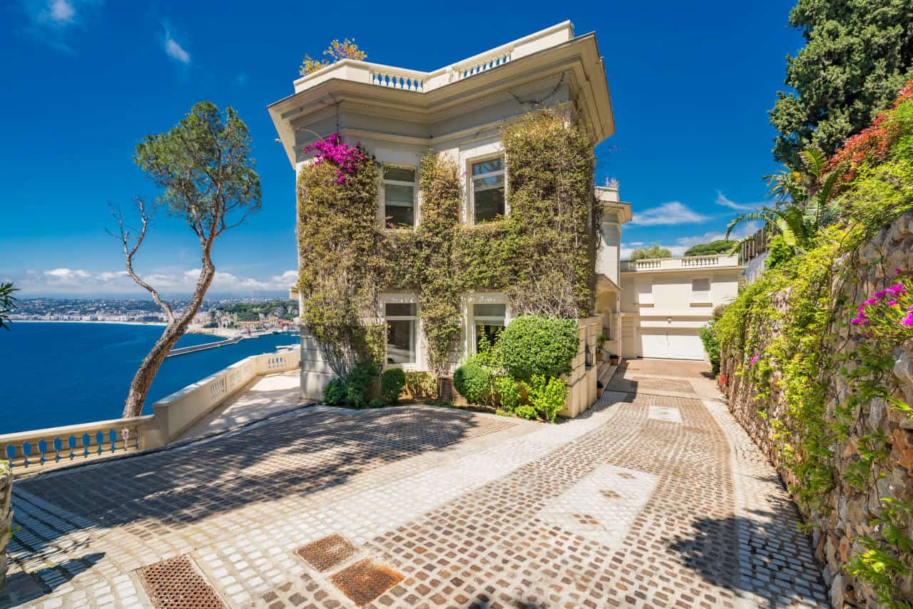 Exterior image of Sean Connery's South of France home that is for sale