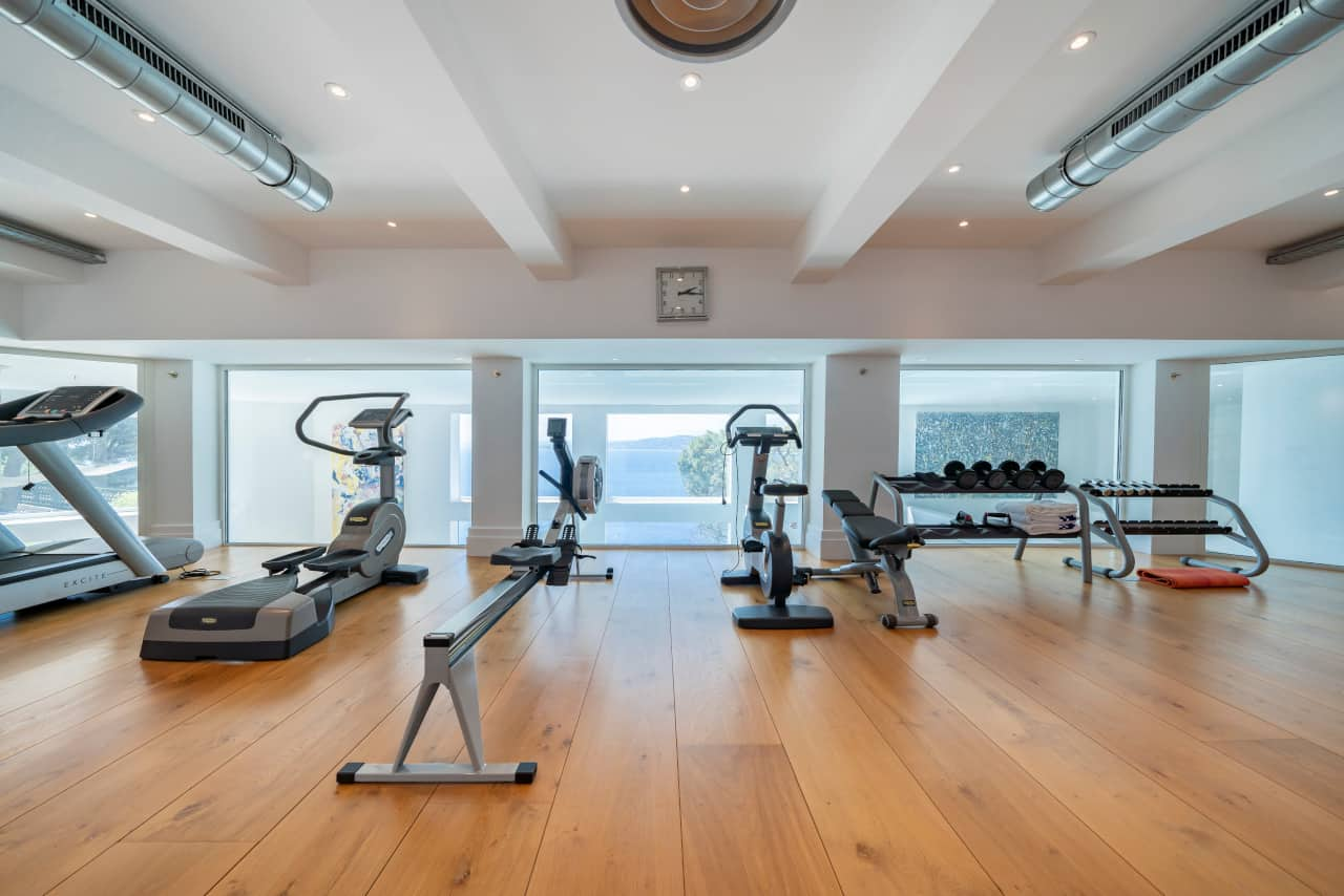 Image of gym area in Sean Connery's South of France home that is for sale
