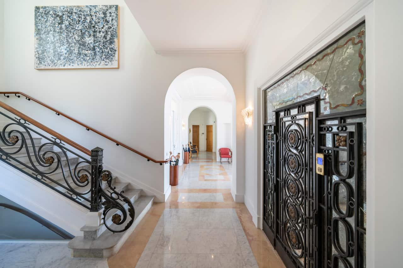 Front foyer image of Sean Connery's South of France home that is for sale