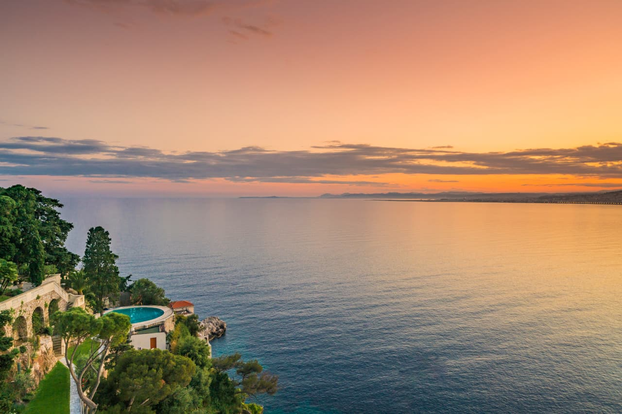 Sunset Sean Connery home South of France