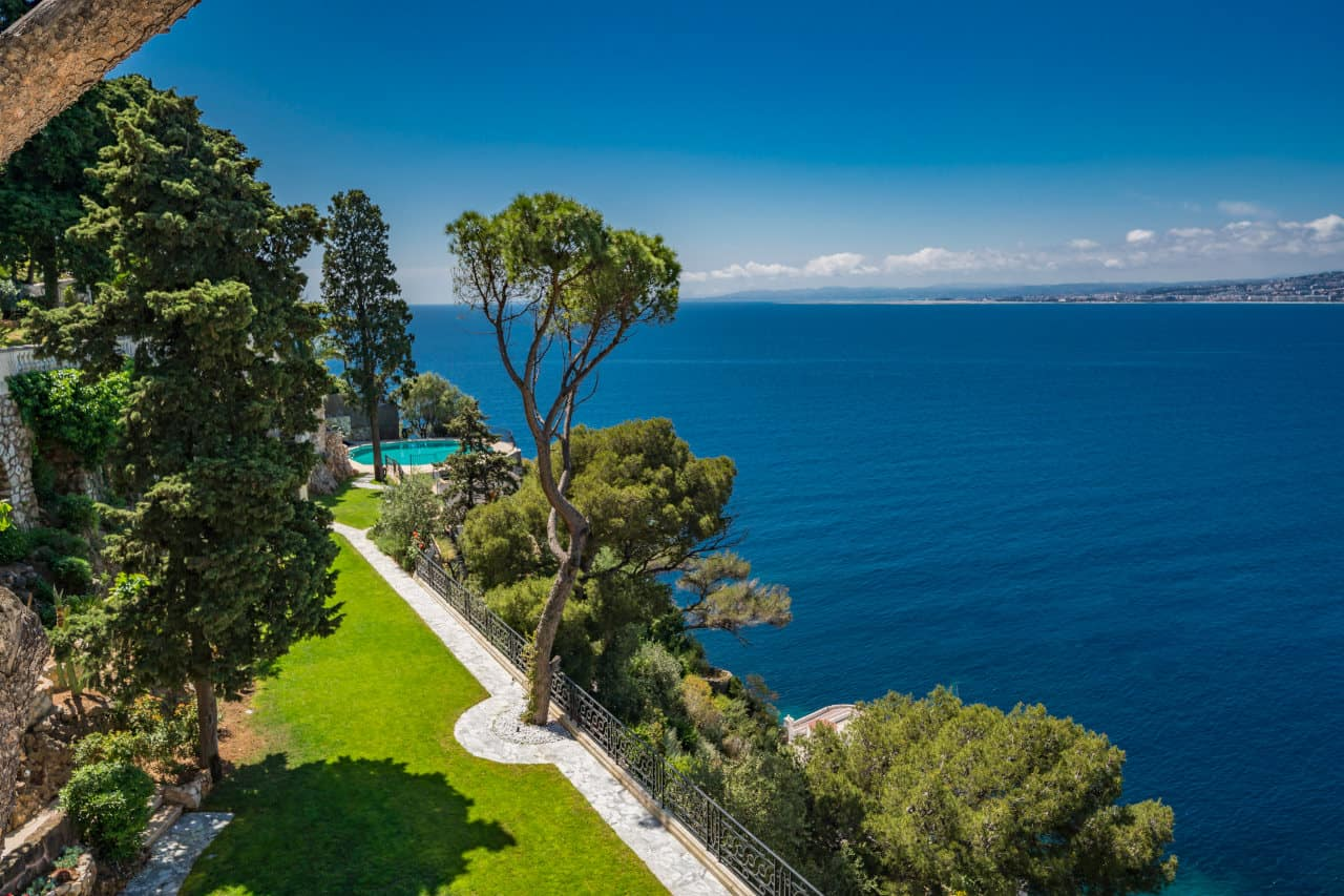 Stunning seaside view at Sean Connery's South of France home that is for sale