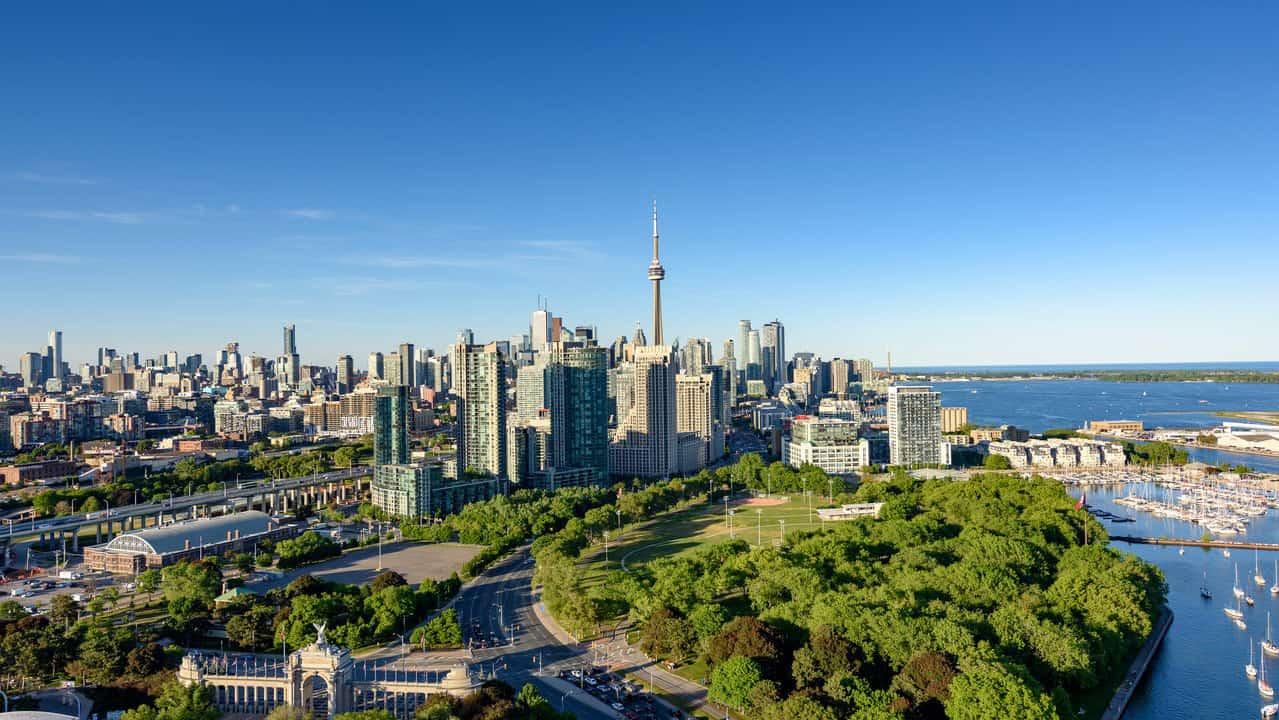 Cityscape shot of Toronto