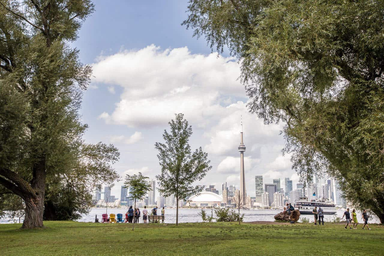 Image of downtown Toronto from Centre Island in Toronto
