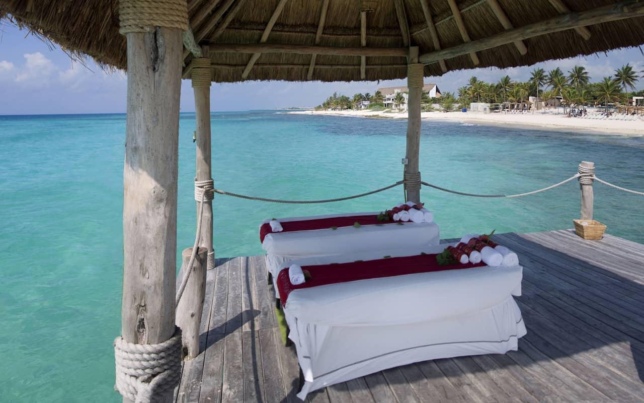 viceroy riviera maya Couples Massage On Pier