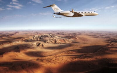 THE BRAND NEW GLOBAL 5500 FROM MONTREAL'S BOMBARDIER SETS A NEW STANDARD WITH ITS RANGE AND SPEED
