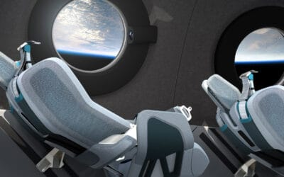 VIRGIN GALACTIC'S SPACESHIP CABIN FOR FUTURE $250K FLIGHTS HAS 12 WINDOWS TO VIEW THE OUTSIDE WONDERS