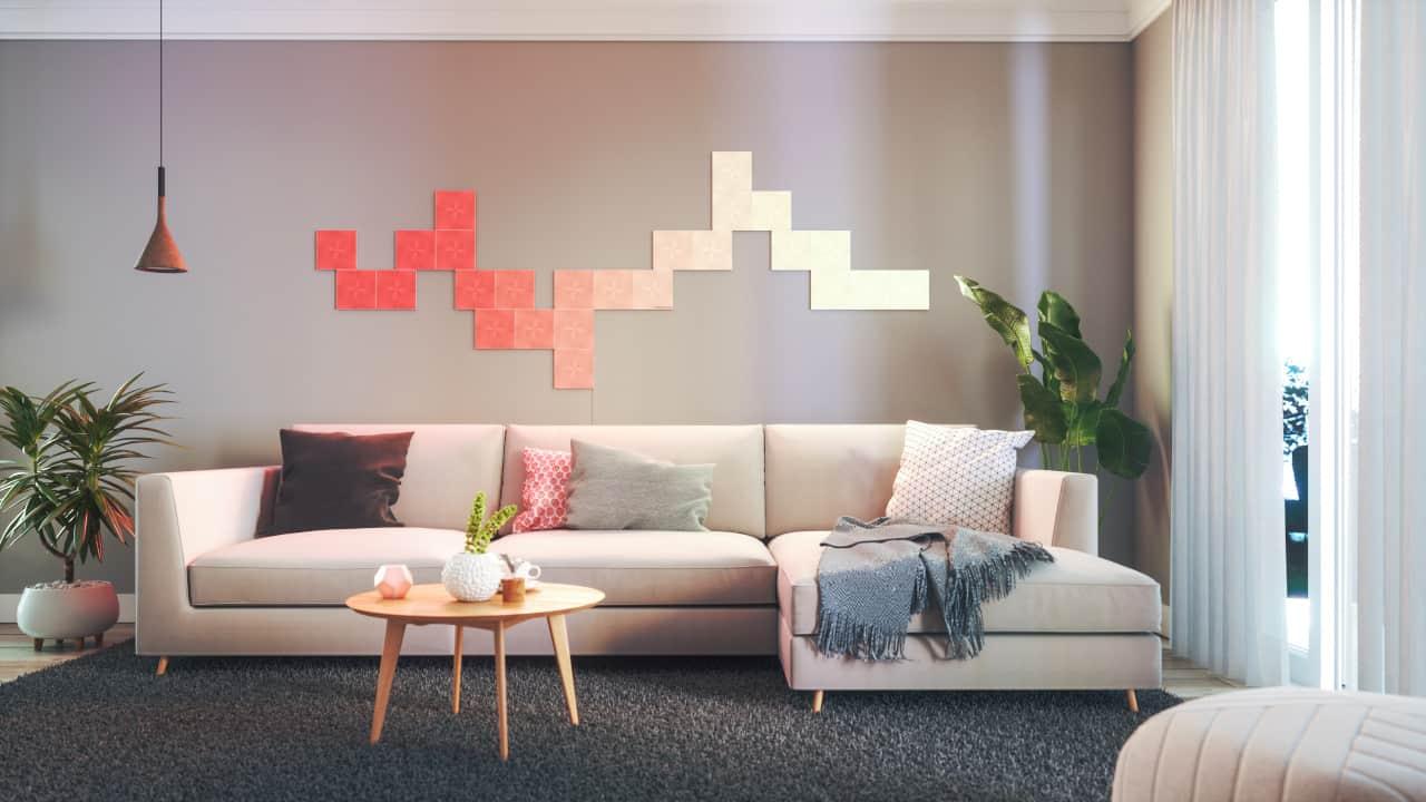 Nanoleaf interior design squares living room