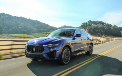THE BRAND NEW MASERATI LEVANTE TROFEO, WITH A TWIN TURBO V8, IS A STYLISH BEAST OF AN SUV
